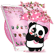 Hugging Cute Panda 2D Theme by Stylish Android Themes