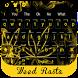 Weed Rasta YELLOW keyboard by Bestheme keyboard Creator