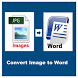 Image To Word, Text - Convert by appzone2016