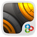 Golden Steel GO Launcher Theme by Freedom Design