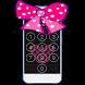 Pink Cute Minny BowknotLOCK SCREEN