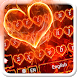 Red Fire Heart Keyboard Theme by 7star princess