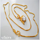 Model Gold Necklace by ufaira