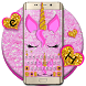 Pink Glisten Unicorn Cat Keyboard Theme by Fancy Keyboard for Android Apps