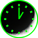 Analog night clock by JJSsoft