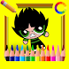 Coloring anime Cartoon Network by Coloring Drawing