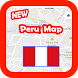 Peru Map and Geography by Kingdom App 1988