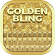 Golden Bling Keyboard by Bling Themes