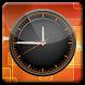 Olive Orange HD Analog Clock by Logic Games
