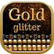 Gold Glitter Keyboard by Bling Themes