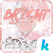 White Diamonds Kika Keyboard by Kika Theme Studio