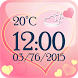 Love Weather Clock Widget by The World of Digital Clocks