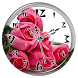 Pink Rose Clock Live Wallpaper by Lo Siento