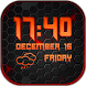 Black Weather and Clock Widget by Customize My Phone
