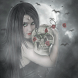 Gothic Skull Rose Live LWP by CG-Live-Wallpapers