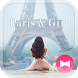 Eifel Tower Wallpaper Paris & Girl Theme