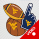 WVU Mountaineers Selfie Stickers Animated by 2Thumbz, Inc