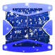 Blue Snow Keyboard Theme by Gradient Themes