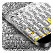 Gun Silver Keyboard by Cool Theme Studio