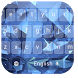 Luxury Blue Diamond Keyboard by live wallpaper collection
