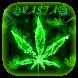 Green Rasta Weed Keyboard by Remote design studio