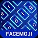 Neon Blue Keyboard Theme & Emoji Keyboard by Emoji Sticker & GIF for keyboard