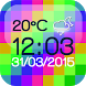 Digital Weather Clock by The World of Digital Clocks