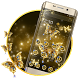 Dazzling Gold Butterfly 2d Theme by android themes & Live wallpapers