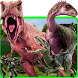 Dino attack-T rex dinosaur Iguanodon Jurassic city by Super Flash hero Games