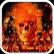 Fire Skull Keyboard by Designer Superman