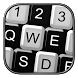 Black And White Keyboard Theme by Live Wallpapers Gallery