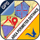 Area Distance Perimeter Measurement for Map on GPS by SeawellSoft
