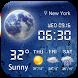 Aero weather clock widget ◕‿◕ by Weather Widget Theme Dev Team