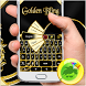 Golden Bling Keyboard by GO T-Me