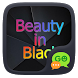 (FREE) GO SMS BEAUTY IN BLACK THEME