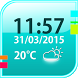 Simple Weather Widget by The World of Digital Clocks