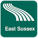 East Sussex Map offline by iniCall.com