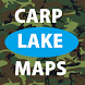 carp lake maps - Carp Fishing by Carp Lakes
