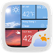 W8 Style Weather Widget Theme by GO Dev Team X