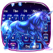 Neon Galaxy Unicorn Keyboard Theme by Super Cool Keyboard Theme