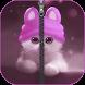 Kitty Zipper Lock Screen by charmapps