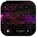 Cosmos purple nebula keyboard by live wallpaper collection