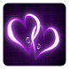 Purple Hearts Live Wallpaper by Pro Live Wallpapers