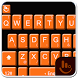 Dark Orange Keyboard Theme by Beautiful Heart Design