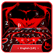 Red Hero Keyboard Theme by Fashion Cute Emoji