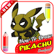 How to Draw Pikachu Deadpool by Dapur Pacu