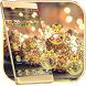 Christmas Gold Snowball Theme Wallpaper by Trusty Rabbit Studio