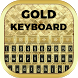 Gold Keyboard by Bling Themes