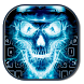 Flaming Skull Keyboard by live wallpaper collection