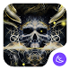 Golden Cool Skull- APUS launcher theme&wallpaper by CoolAppPub